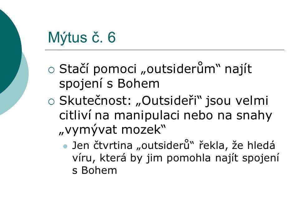 """Mýtus č. 6 Stačí pomoci """"outsiderům najít spojení s Bohem"""