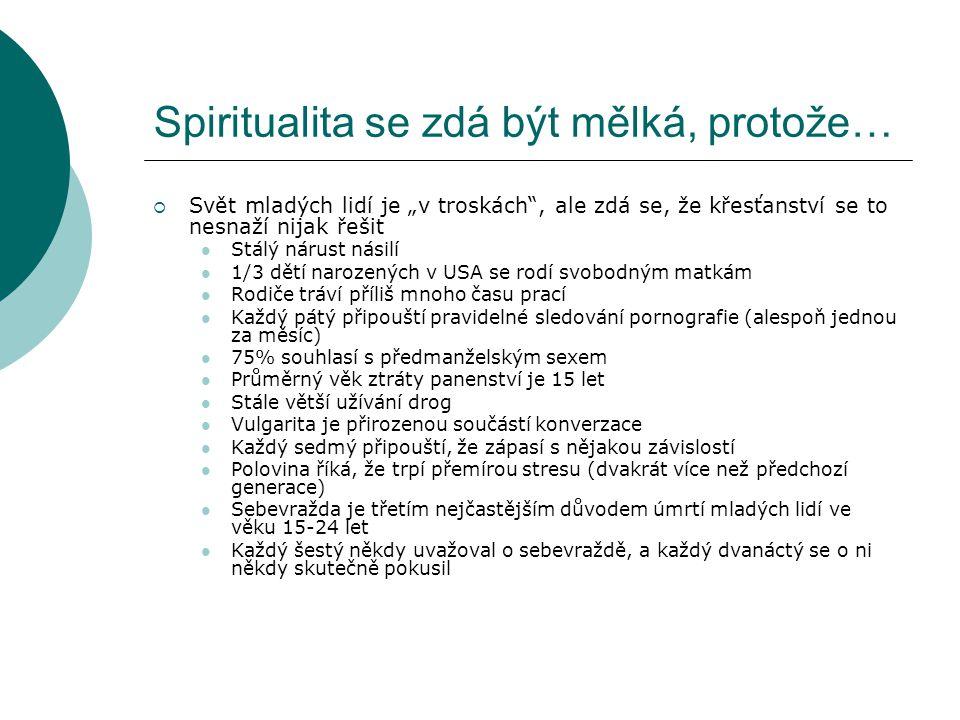 Spiritualita se zdá být mělká, protože…