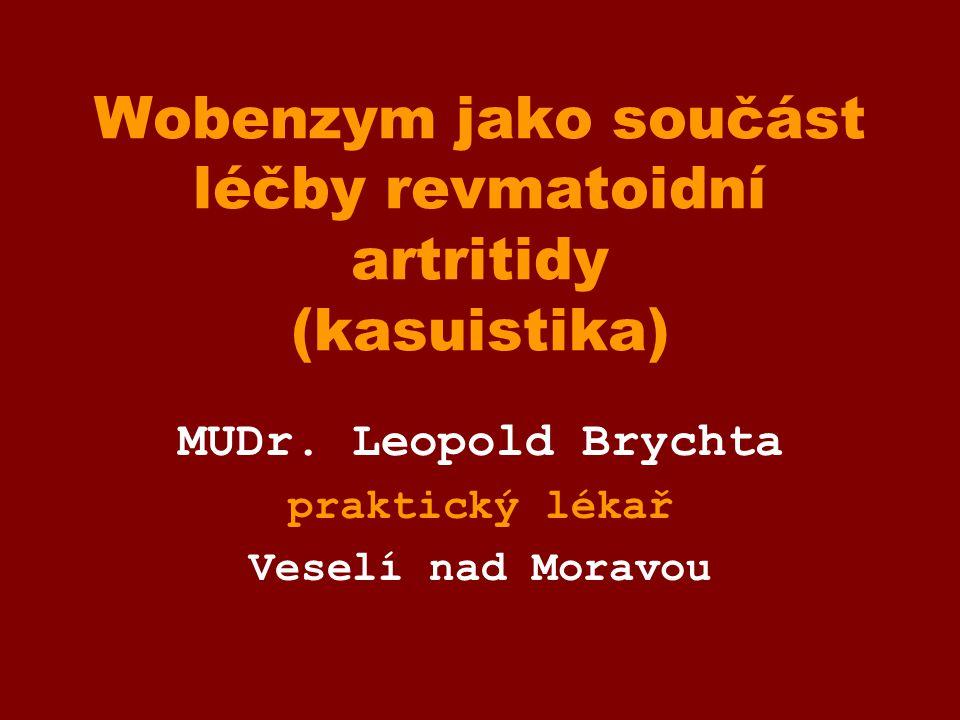 Wobenzym jako součást léčby revmatoidní artritidy (kasuistika)