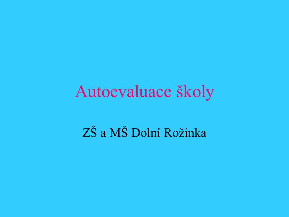 Autoevaluace školy ZŠ a MŠ Dolní Rožínka