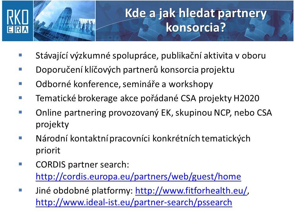 Kde a jak hledat partnery konsorcia