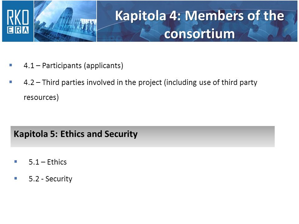 Kapitola 4: Members of the consortium