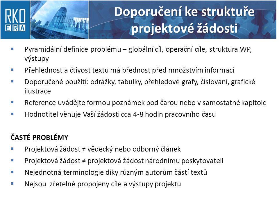 Doporučení ke struktuře projektové žádosti