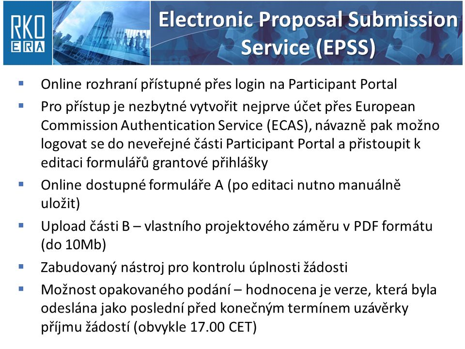 Electronic Proposal Submission Service (EPSS)