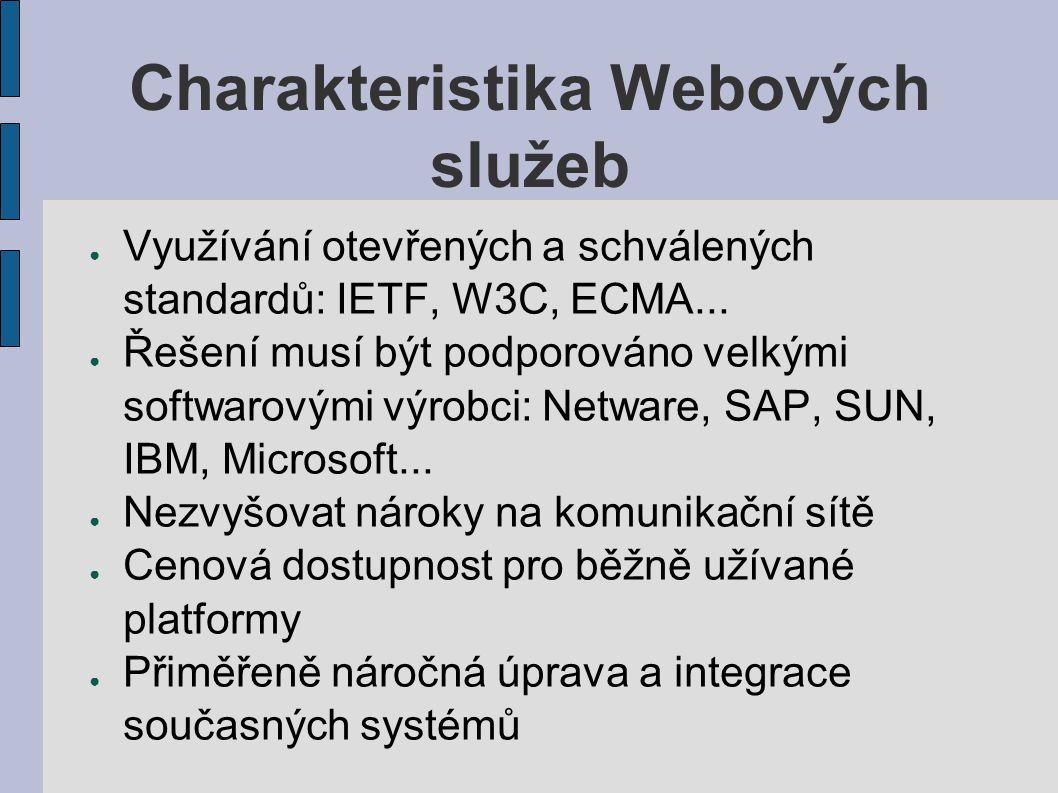 Charakteristika Webových služeb