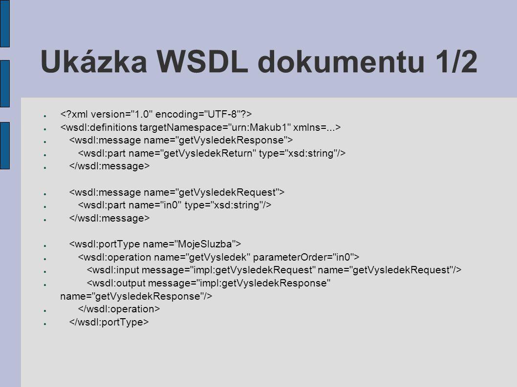 Ukázka WSDL dokumentu 1/2