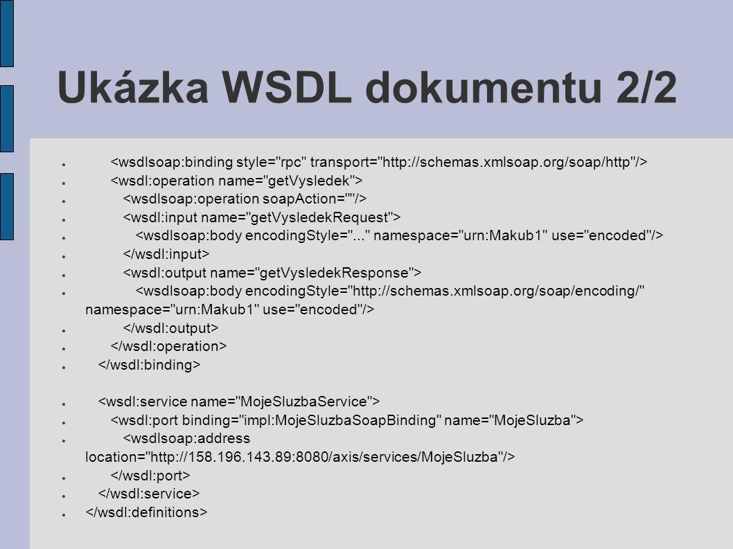 Ukázka WSDL dokumentu 2/2
