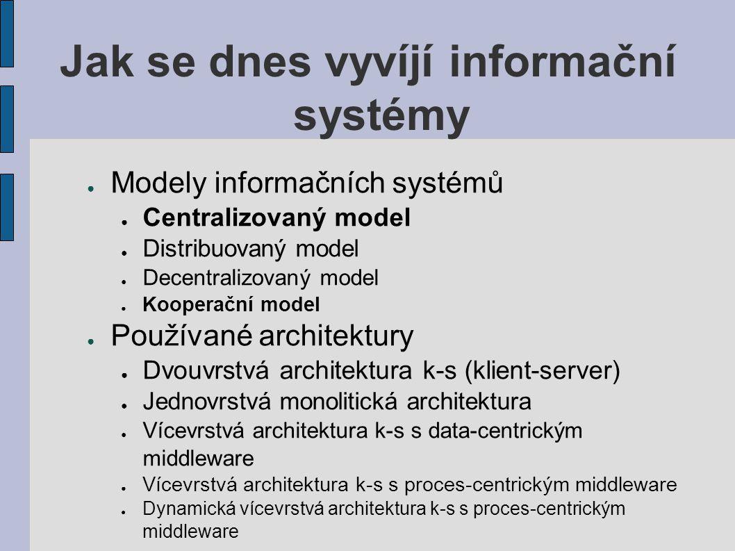 Jak se dnes vyvíjí informační systémy