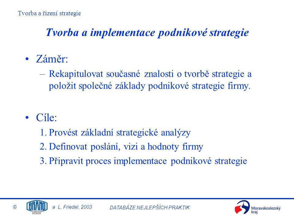 Tvorba a implementace podnikové strategie