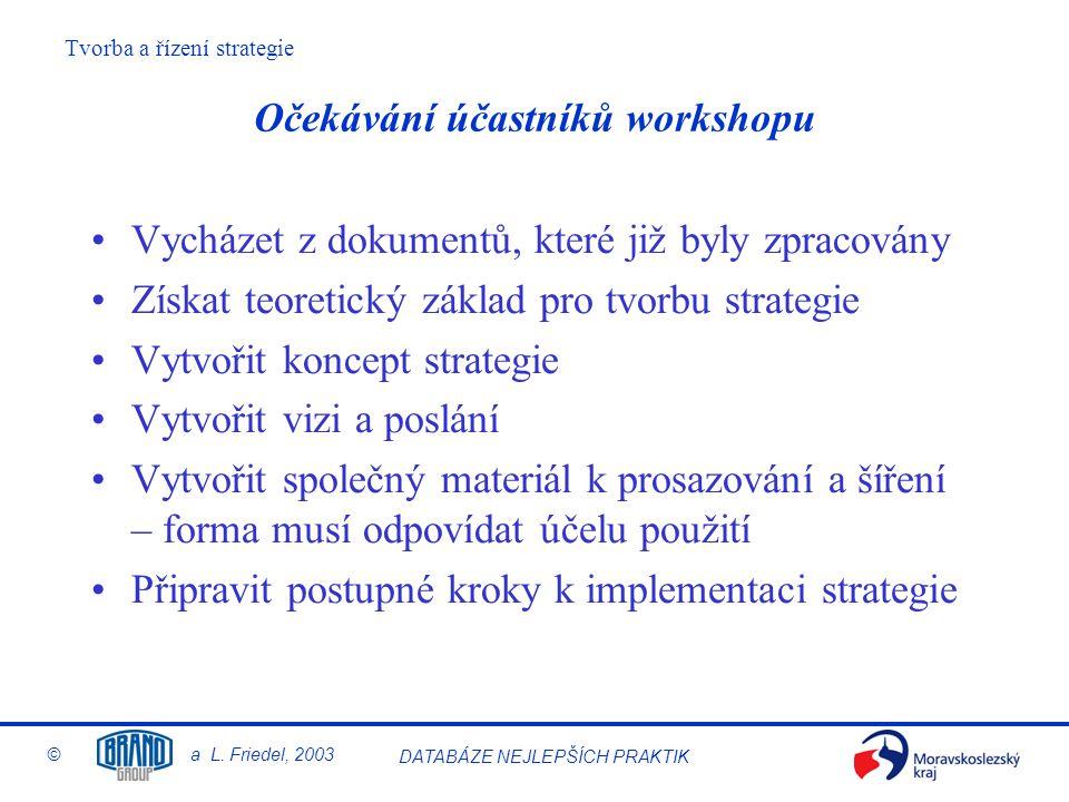 Očekávání účastníků workshopu