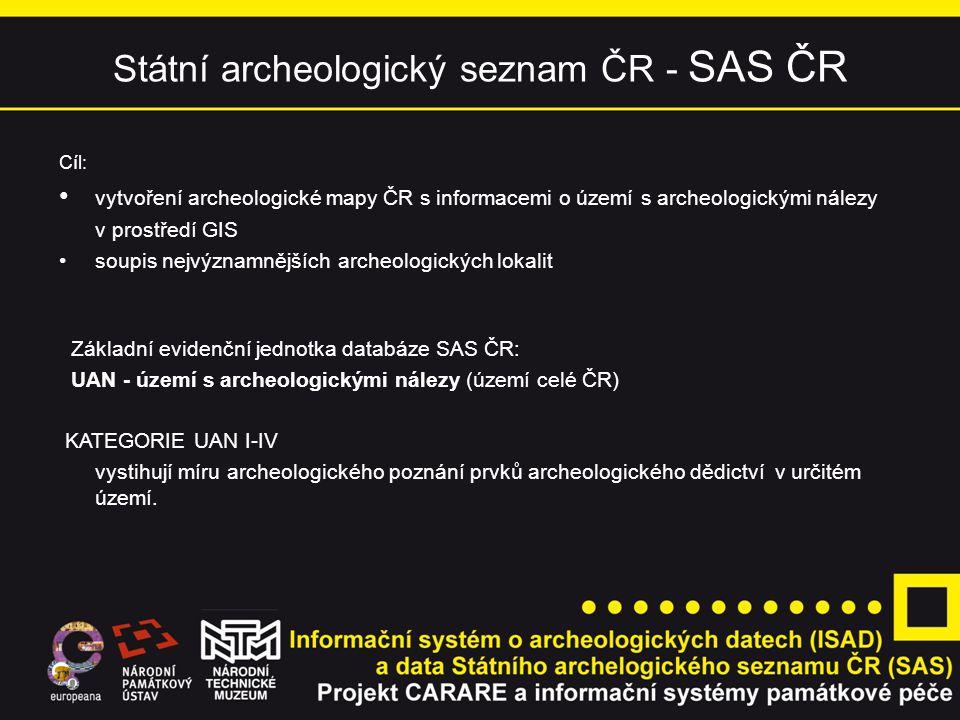 Státní archeologický seznam ČR - SAS ČR