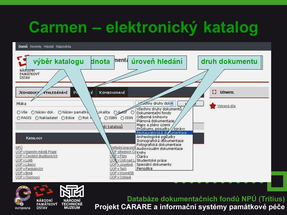 Carmen – elektronický katalog