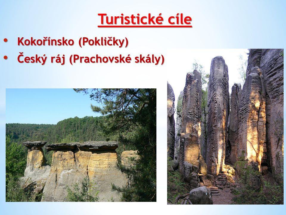 Turistické cíle Kokořínsko (Pokličky) Český ráj (Prachovské skály)