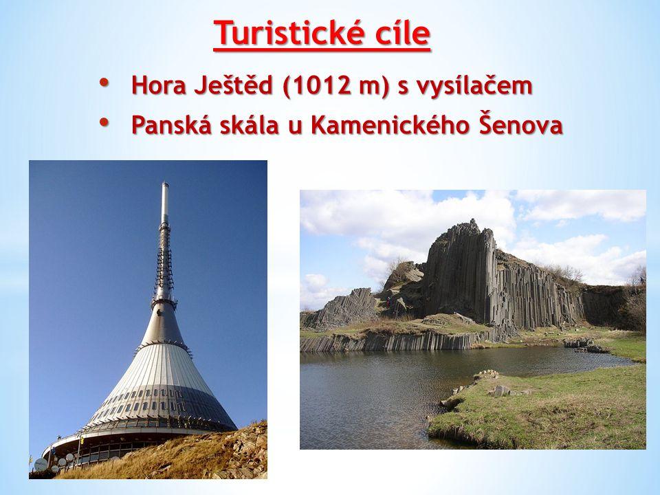 Turistické cíle Hora Ještěd (1012 m) s vysílačem