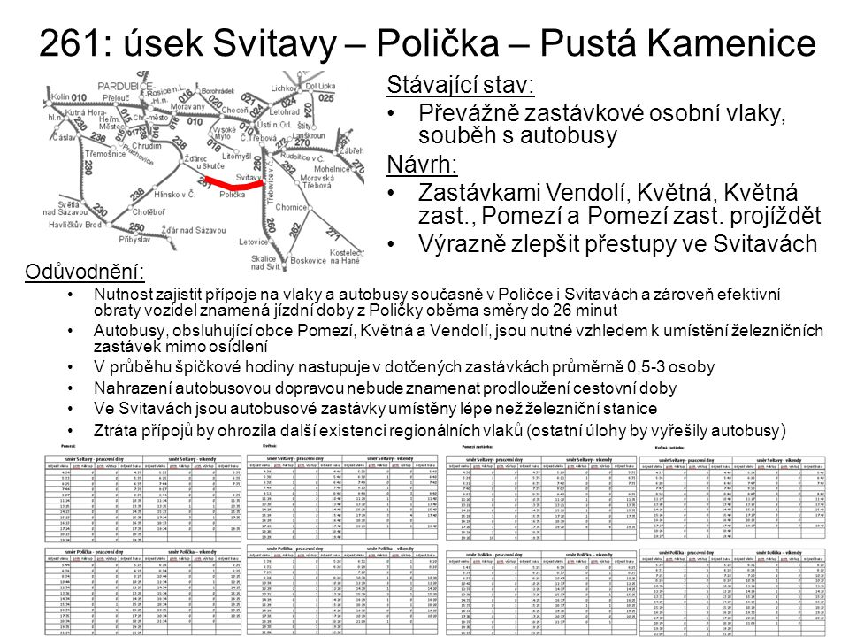 261: úsek Svitavy – Polička – Pustá Kamenice