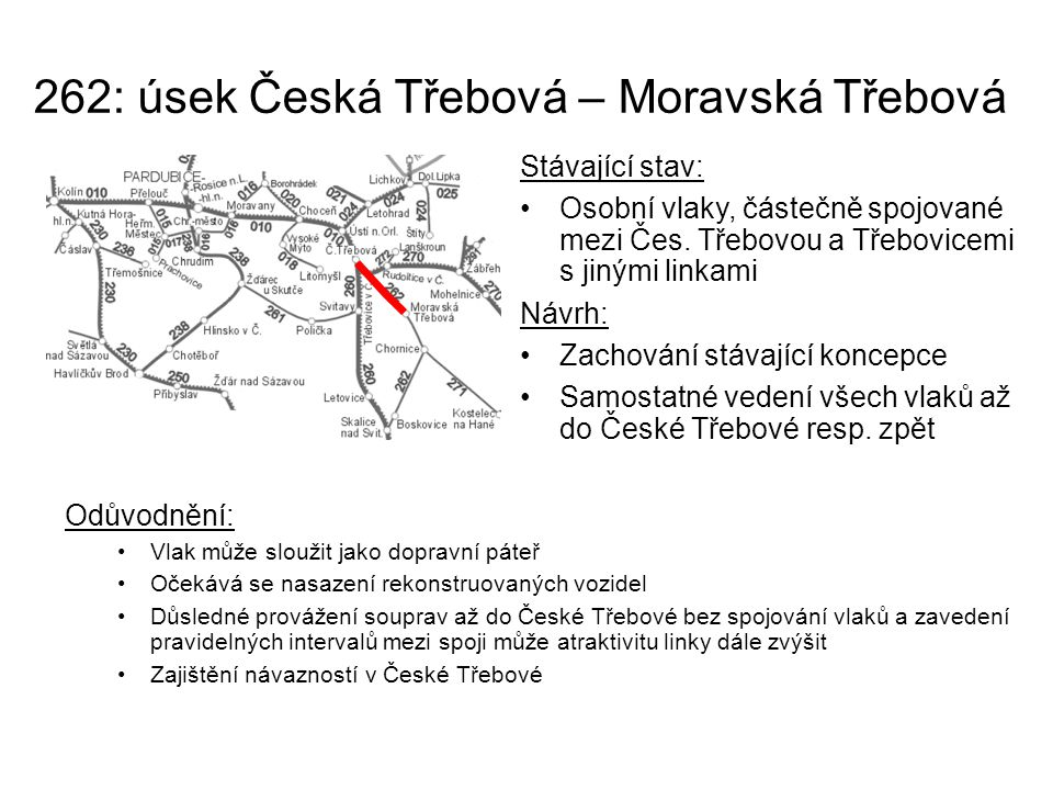 262: úsek Česká Třebová – Moravská Třebová