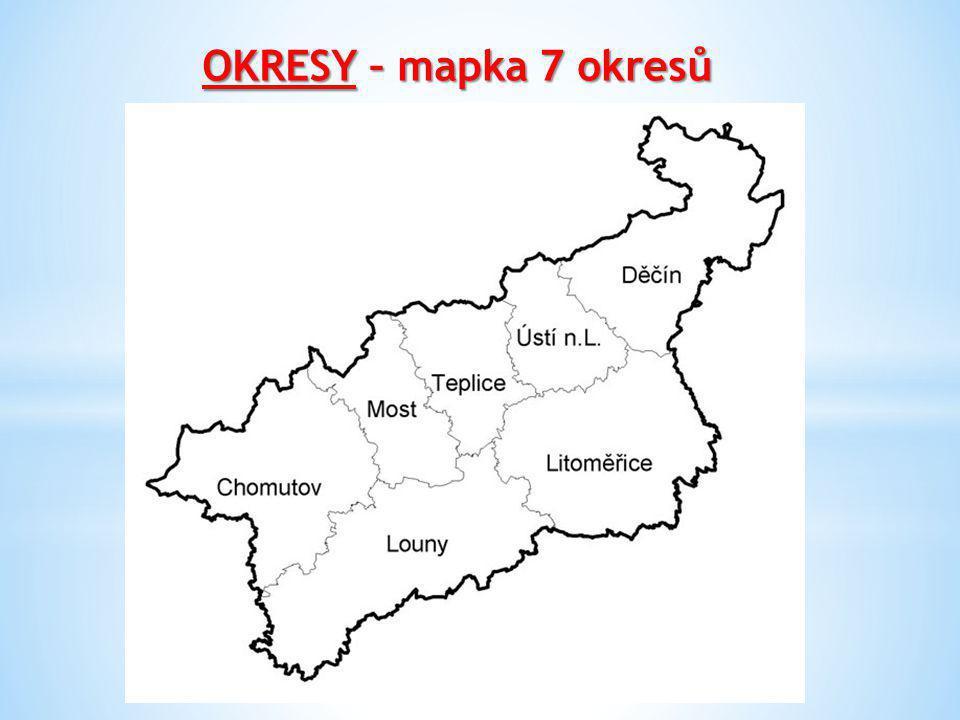 OKRESY – mapka 7 okresů
