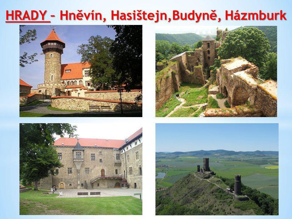 HRADY – Hněvín, Hasištejn,Budyně, Házmburk