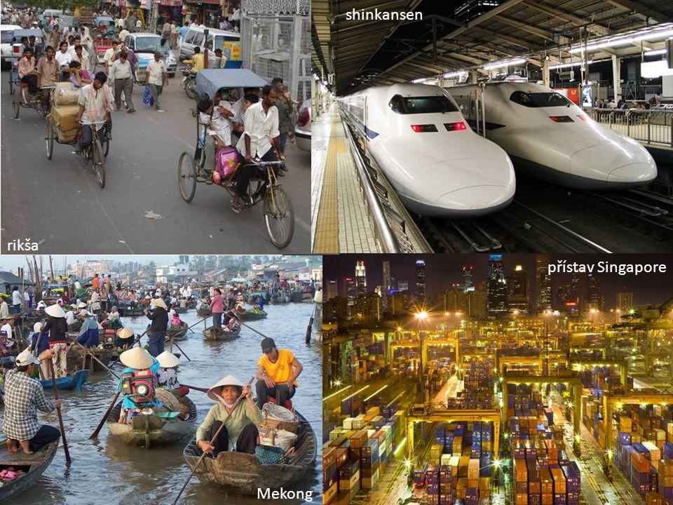 shinkansen rikša přístav Singapore Mekong