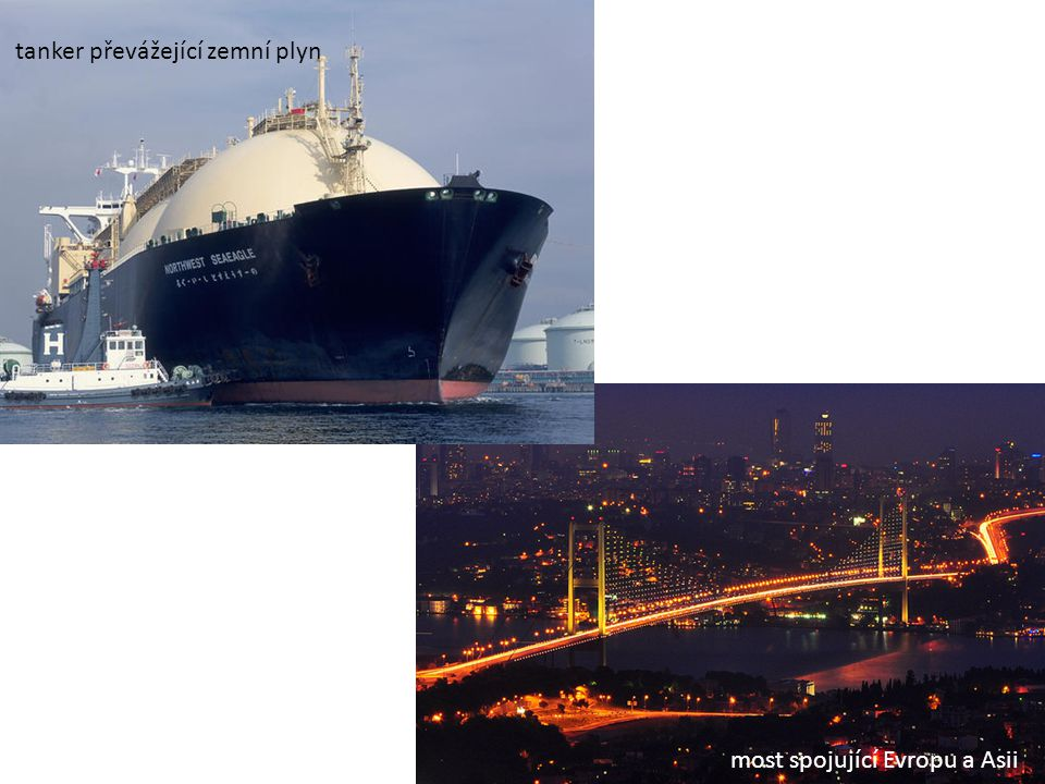 tanker převážející zemní plyn