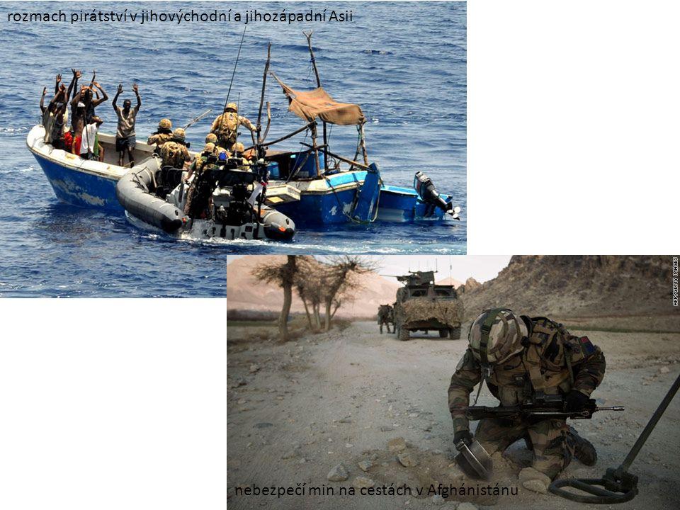 rozmach pirátství v jihovýchodní a jihozápadní Asii