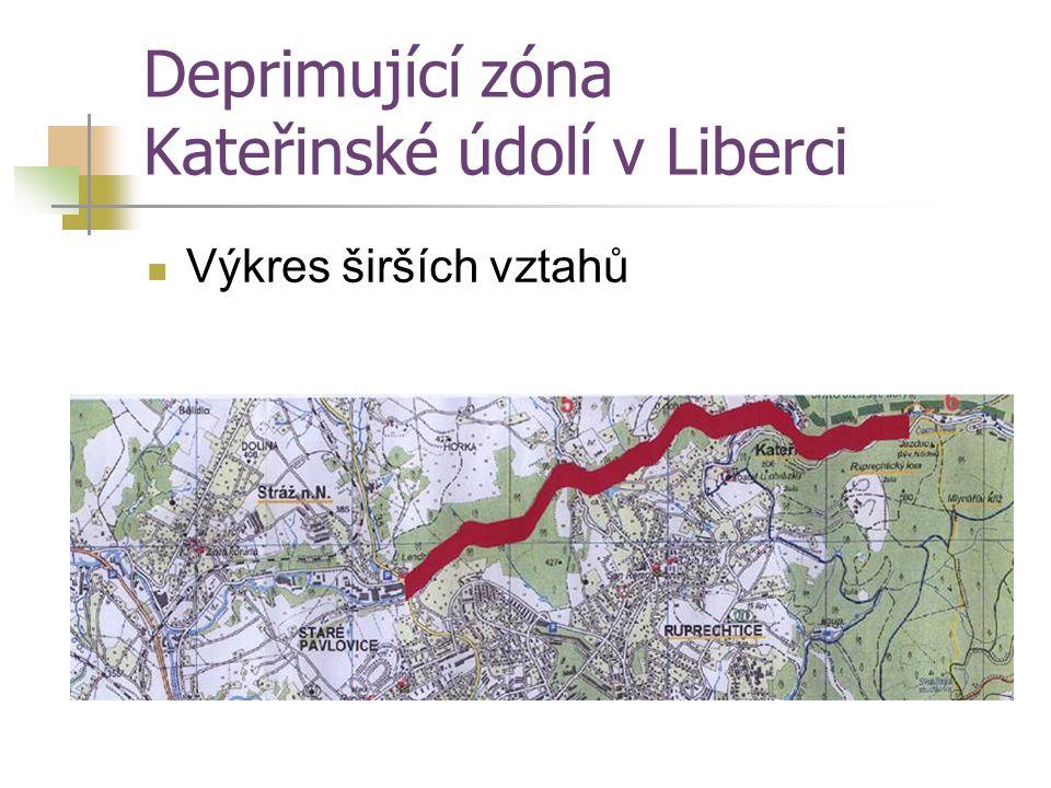 Deprimující zóna Kateřinské údolí v Liberci