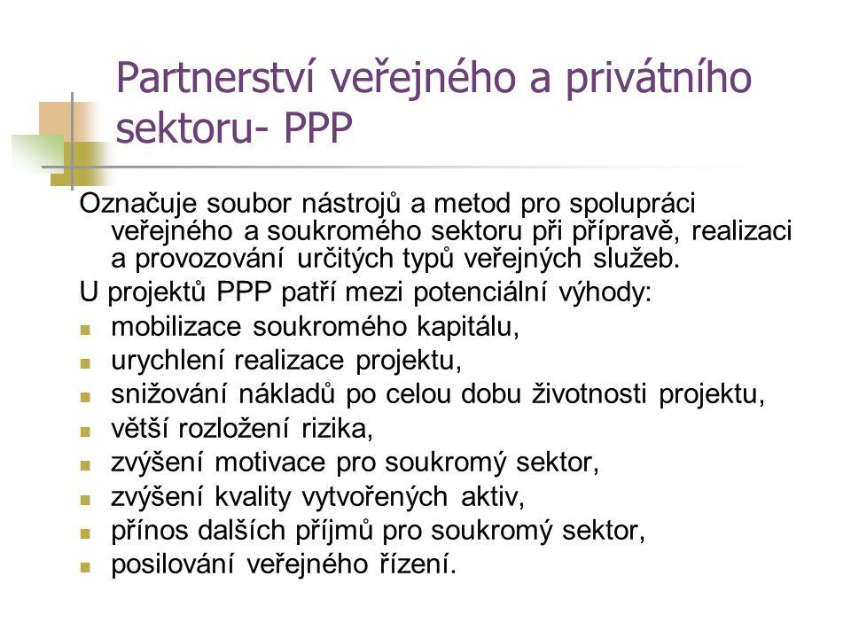 Partnerství veřejného a privátního sektoru- PPP
