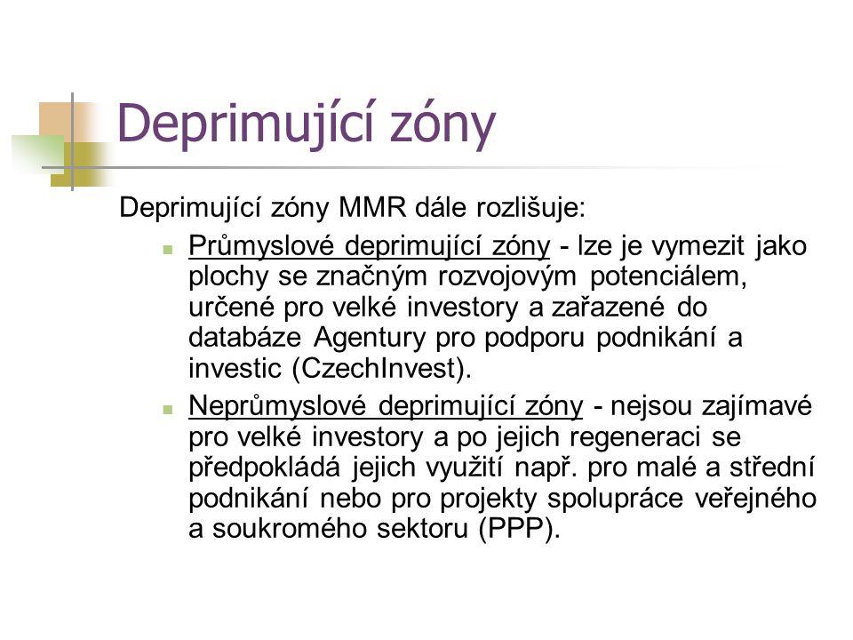 Deprimující zóny Deprimující zóny MMR dále rozlišuje: