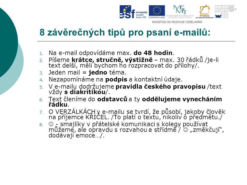 8 závěrečných tipů pro psaní e-mailů: