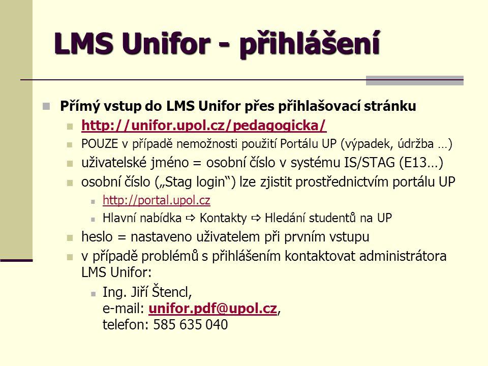 LMS Unifor - přihlášení