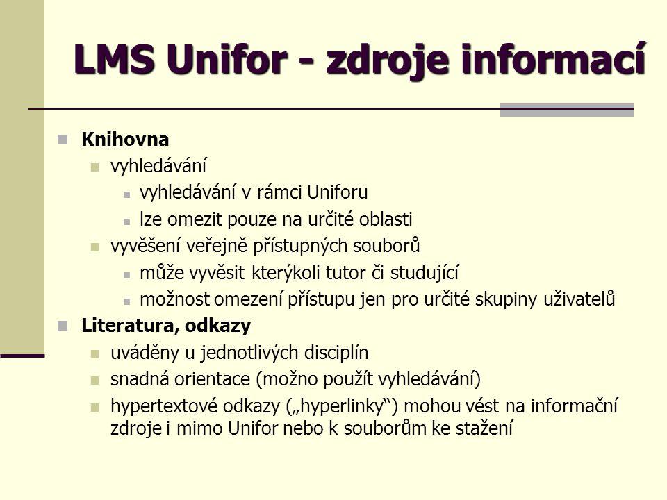 LMS Unifor - zdroje informací