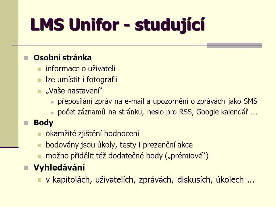LMS Unifor - studující Vyhledávání