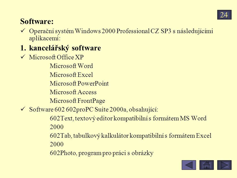 Software: 24 kancelářský software