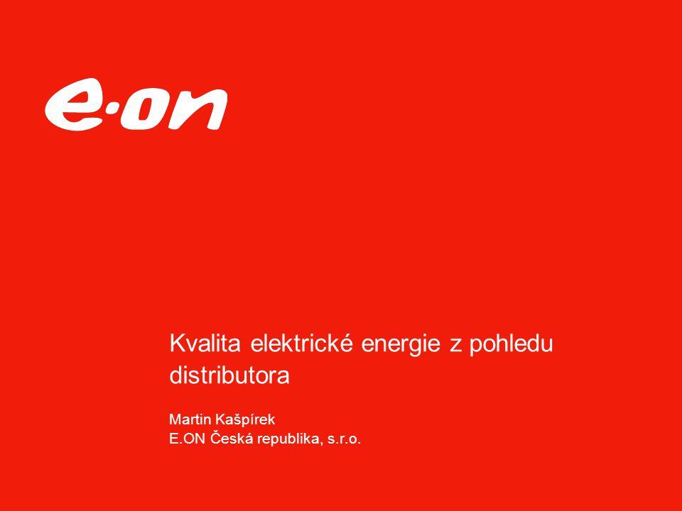 Kvalita elektrické energie z pohledu distributora