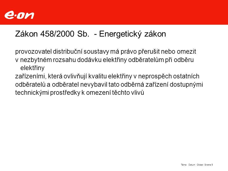 Zákon 458/2000 Sb. - Energetický zákon