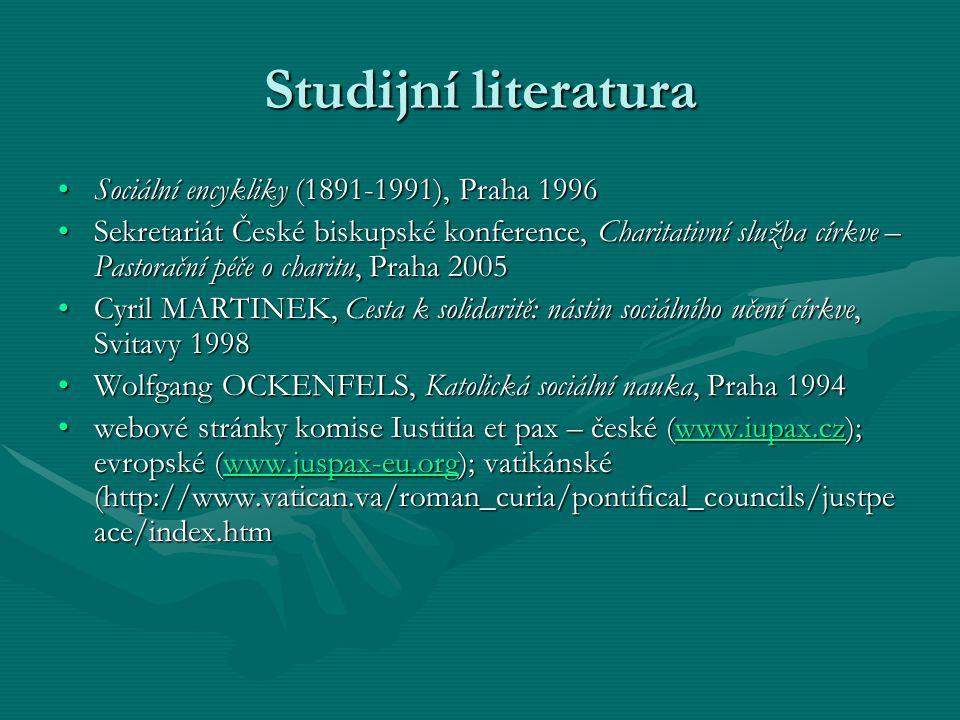 Studijní literatura Sociální encykliky (1891-1991), Praha 1996