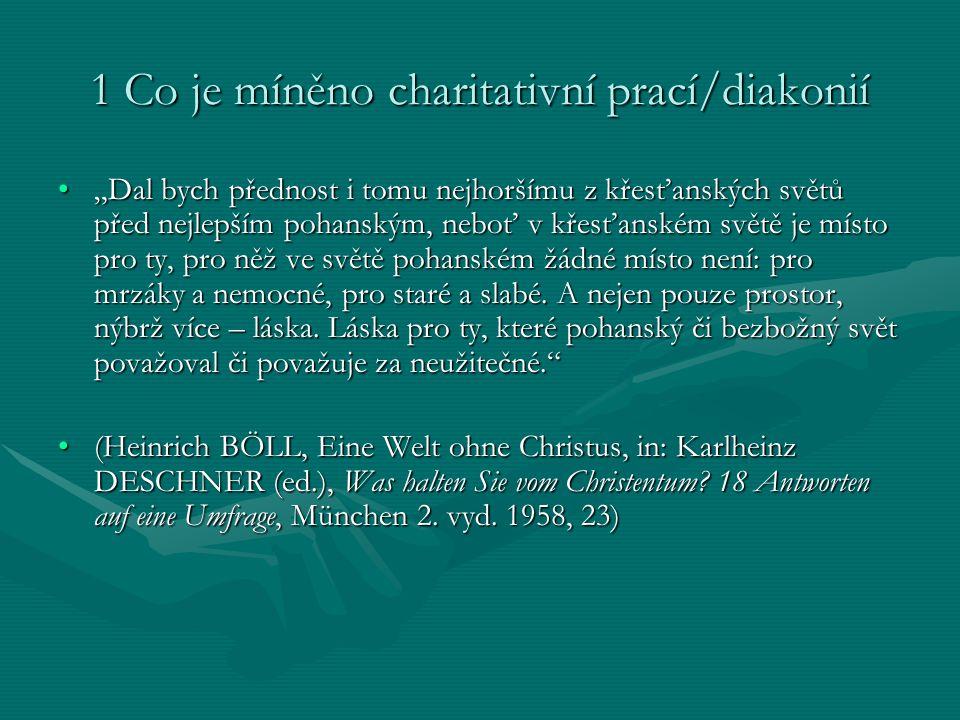 1 Co je míněno charitativní prací/diakonií