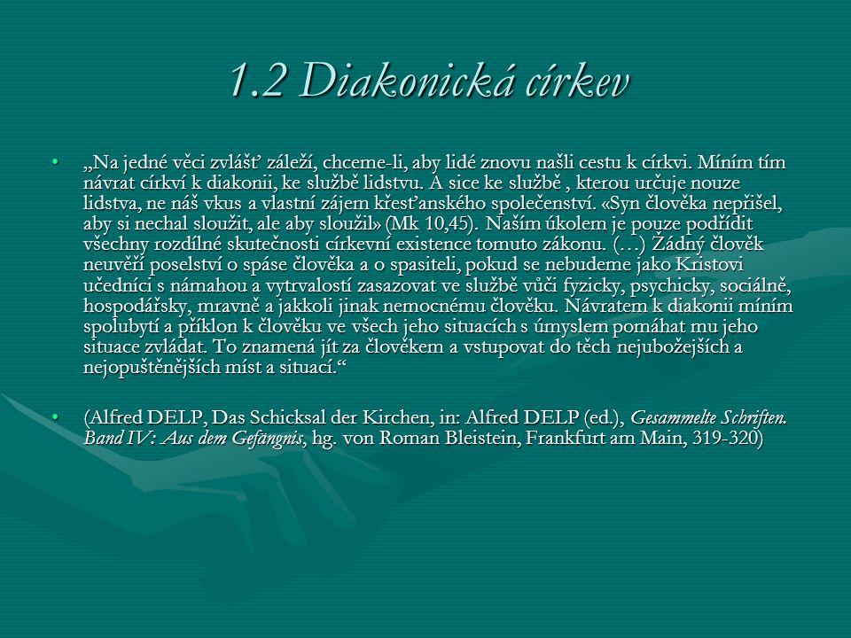 1.2 Diakonická církev
