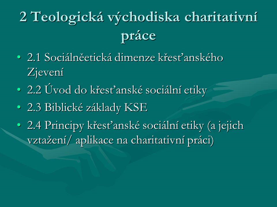 2 Teologická východiska charitativní práce