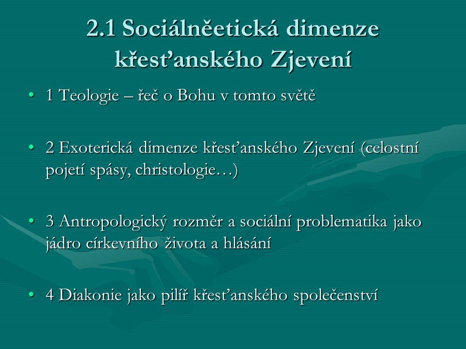 2.1 Sociálněetická dimenze křesťanského Zjevení
