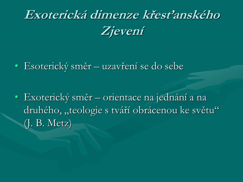 Exoterická dimenze křesťanského Zjevení