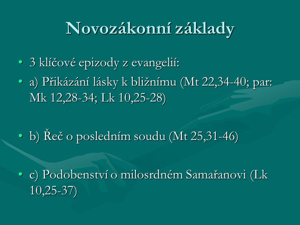 Novozákonní základy 3 klíčové epizody z evangelií: