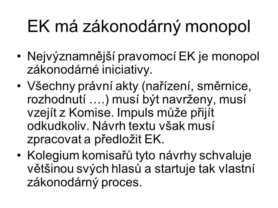 EK má zákonodárný monopol