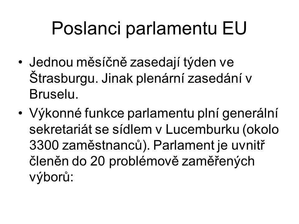 Poslanci parlamentu EU
