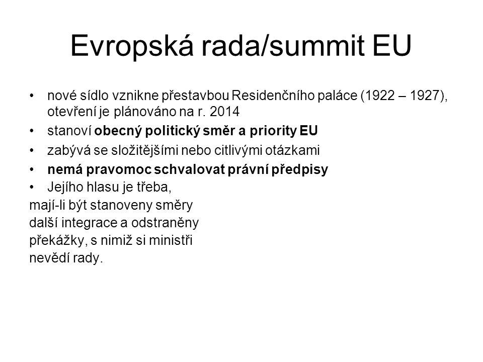 Evropská rada/summit EU