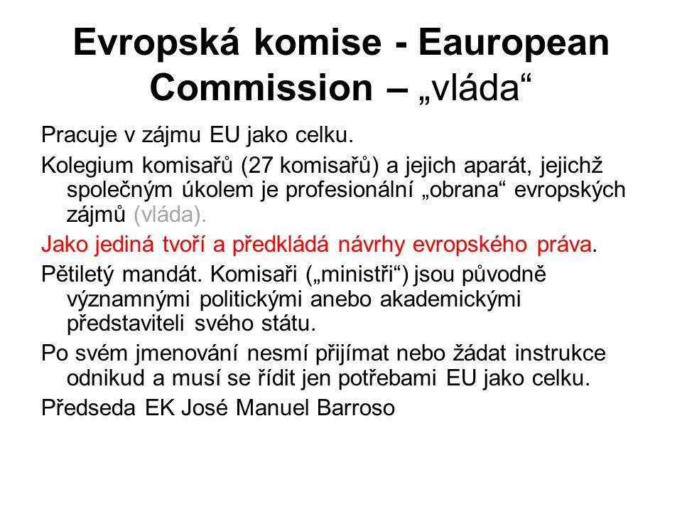 """Evropská komise - Eauropean Commission – """"vláda"""
