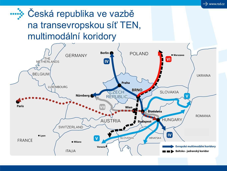 Česká republika ve vazbě na transevropskou síť TEN, multimodální koridory