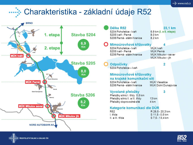 Charakteristika - základní údaje R52
