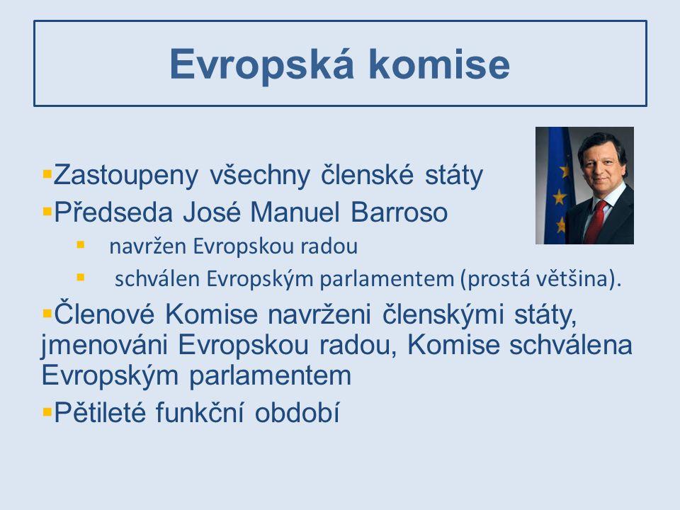 Evropská komise Zastoupeny všechny členské státy