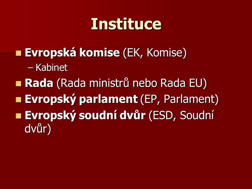 Instituce Evropská komise (EK, Komise)